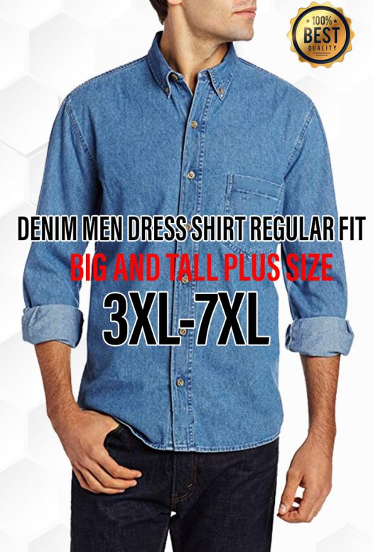 big and tall denim shirt sewing pattern for men